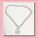 Collar Plata 925 + Dije Corazon Grabado Nombre Roló Tiffany