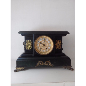 Antigo Usa Waterbury Clock Company Prateleira De Manto