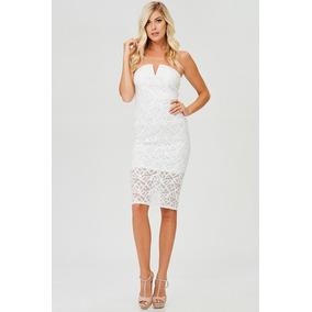 Vestido Blanco Encaje Novia Civil Fiesta 36
