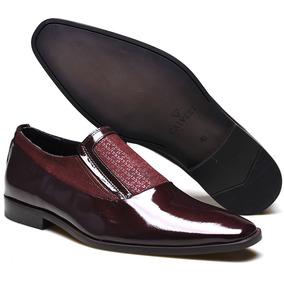 0b3fbfbd8e3bf Sapato Social Masculino Solado De Madeira Verniz - Sapatos Bordô no ...