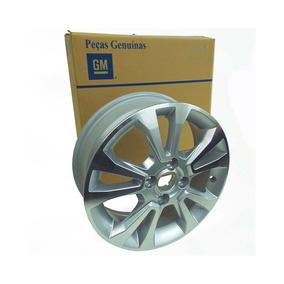 Roda Liga Leve Aluminio Aro15 Prata Prisma 2013 Em Diante