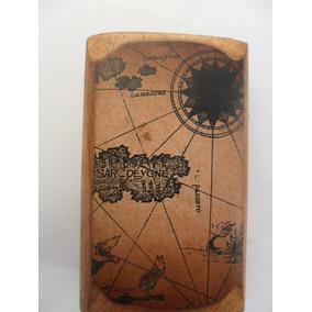 Reloj Lunar Y Solar Con Brujula En Su Caja Muy Antiguo