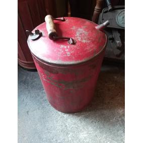 Bidón De Chapa Para Combustible O Kerosene Antiguo Sano