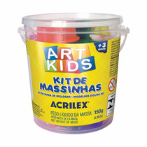 Massinha De Modelar Super Massa Kit 150 Gramas Art Kids