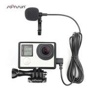 Case Com Microfone Externo Mini Usb Gopro Hero 3 3+ 4