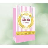 Sacolas Personalizadas Para Festas Papel Fosco + Brindes