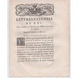 Cartas Patentes Do Rei Luís Xv De França 1771: Requerimentos