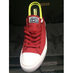 zapatillas converse rojas con caña