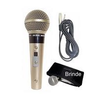 Microfone Leson Sm58 P4 Vocal Profissional +uma Bolsa Brinde
