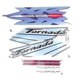 Kit Jogo Adesivo Honda Xr250 Tornado 2003 Azul + Brinde