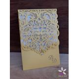 [modelo 38] Tarjeta Calada Láser Invitacion 15 Casamiento