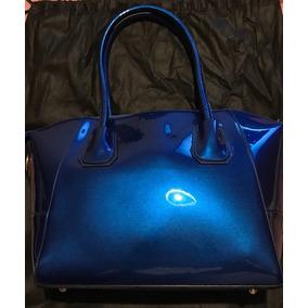Cartera Bolso Marca Bata De Chile Color Azul Glossy