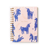 Cuaderno Planificador Unicornio Tapa Dura Anillado Casa Foa
