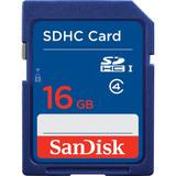 Cartao De Memoria Sd Hc 16gb Sandisk Classe 4 - Lacrado