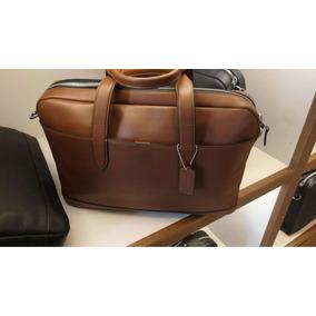 Portafolio Coach 100% Original Piel Liso Camel De Linea