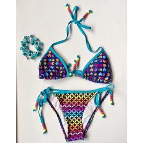 Mistral Traje De Baño Bikini Importado Talla S Adolescente