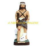 Imagem São Lazaro C/ Cachorro Estatua Santo Gesso 60cm Ml Br