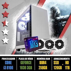 Computador Gamer Core I3 8100 + Gtx 1060 3gb + Ssd 120gb