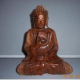 Estatua Buda Sentado De Madera Maciza Tallada!!