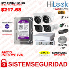 Kit 4 6 2 8 Camaras Seguridad Hd 720p 1080p Disco Cable Cctv