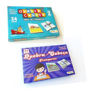 Promoção Kit Com Jogos Educativos Figuras Transportes
