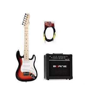 Kit Guitarra Infantil Michael Gm219n Sunburst + Caixa Cabo
