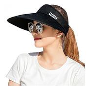 Sun Visor Hats Mujeres 55 Large Gorra Sombrero Brim Summer P