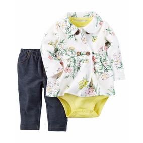 Roupa Importadas Para Bebe Kit 3peças Carter `s Feminino Usa