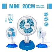 Ventilador Mini De Mesa 2 Em 1 - 20cm Branco E Azul Ventisol