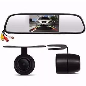 Kit Espelho Retrovisor Monitor Tela Lcd 4.3 + Câmera Ré Car