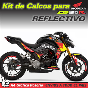 Calcos Honda Cb190r Kit Red Bull + Llantas - Reflectivo