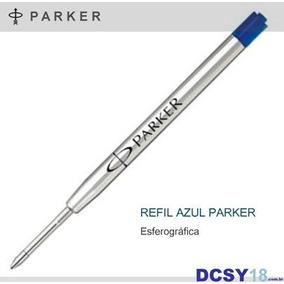 Carga Parker - Refil Tinta Azul - Esferográfica Ponta Média