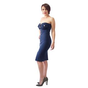 Vestido Straple Rodilla Para Fiestas De Día O Noche 8101