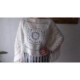 Poncho Crochet Tejido Artesanal - Invierno