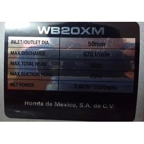 Bomba De Agua A Gasolina Marca Honda Wb20xm