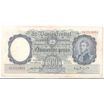 Bottero # 2094 Valor 500 (pesos M$n ) Año 1951 Xf- !