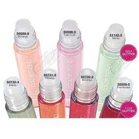 Gloss Com Glittere Sem Glitter Rollette Color Trend 5,5ml