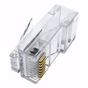 Lote 50 Conector Plug Rj45 Cat5 Para Cable Red Utp 50 Piezas