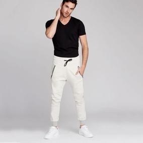 Pants Sport Jogger 100% Algodón Para Caballero. Color Crema.