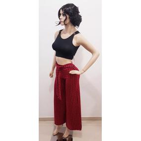 Conjunto Feminino Calça Pantalona + Cropped Pronta Entrega