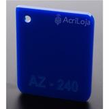 Placa De Acrilico Azul 200cm X 200cm Esp. 3mm Chapa Acrilico