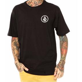 Camiseta Volcom Mini Circle Preta- 100% Algodão