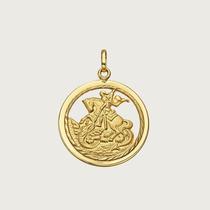Pingente São Jorge Em Ouro 18k (750)