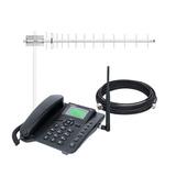 Kit Celular Rural Aquario Ca-800 Antena 17dbi Cabo 15 Metros