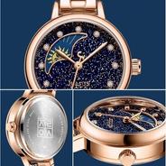 Reloj Julius Ja-1157 Mujer Dama Sun And Moon. Novedad.