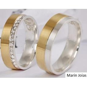 Alianças De Ouro 18k 6mm 14 Gramas Casamento Promoção
