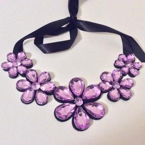 Collares Oferta 3 Piezas A Elegir Flores Colores Joyas Moda