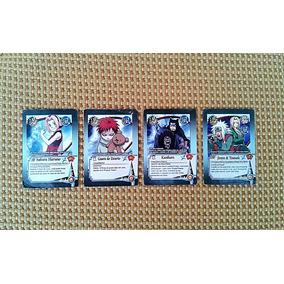 Kit 4 Cards Naruto Shippuden Cartas Raras Uzumaki Boruto