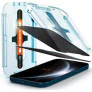 Vidrio Templado Spigen iPhone 12 Pro Max Anti Espia X2