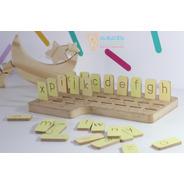 Juego Aprendizaje Mi Alfabeto Madera Montessori Waldorf